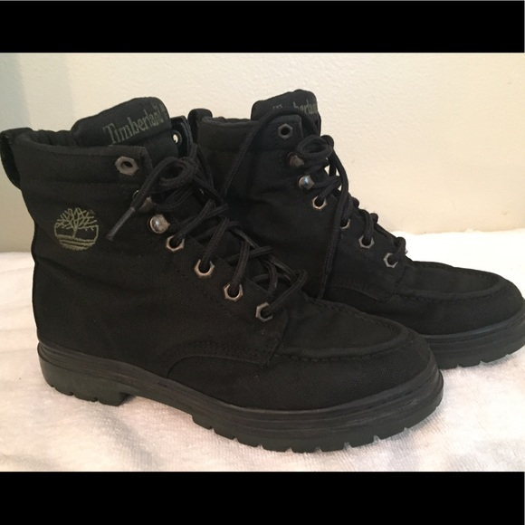 best value latest design choose clearance TIMBERLAND BLACK CANVAS WOMENS BOOTS SZ 6 1/2M